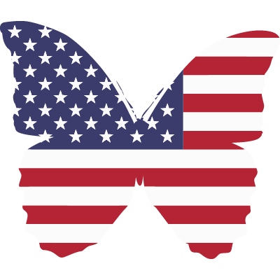 America Butterfly flag ID: 1607143555438
